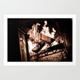 Fireplace Art Print