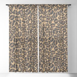 Leopard Print | Cheetah texture pattern Sheer Curtain