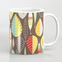 mod Mugs featuring Mod Owls_Leaves by Jeannine Feierbach Designs