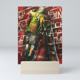 No Standing Ladder Writer Mini Art Print