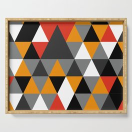Colorful rombs pattern Serving Tray