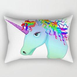 colorful head of unicorn Rectangular Pillow