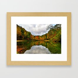 Reflection Photo at Fish Pond Lake outside of Jenkins, Kentucky Framed Art Print