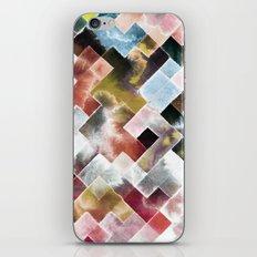 Moody watercolor patchwork iPhone Skin