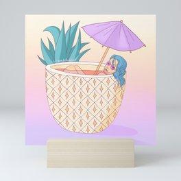 Pineapples in my head Mini Art Print