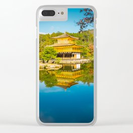 Golden Pavilion Panorama in Kyoto, Japan. Clear iPhone Case