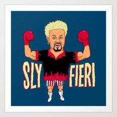 Sly Fieri Art Print