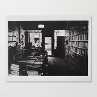 library Canvas Prints featuring Library by Pamela Leszczynski