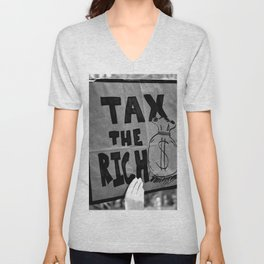 Tax the Rich Unisex V-Neck