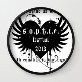 Sophie Festival - Limited Edition (stand as one) Wall Clock