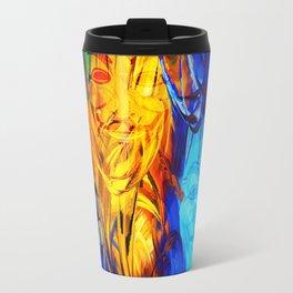 The Mysterious Face Travel Mug