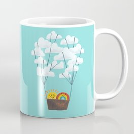 Hot cloud balloon - sun and rainbow Coffee Mug