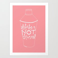 shaken in pink Art Print