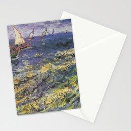 Vincent van Gogh - Fishing Boats at Saintes-Maries Stationery Cards