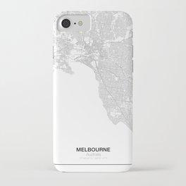 Melbourne, Australia Minimalist Map iPhone Case
