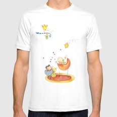 Baby surprise MEDIUM Mens Fitted Tee White