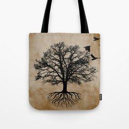 Tree of Life - Crow Tree A823 Tote Bag
