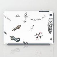 tattoos iPad Cases featuring Louis's Tattoos by Kate & Co.