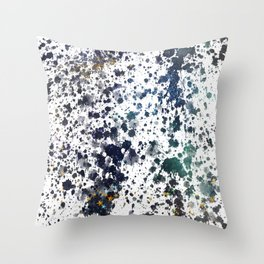 Navy & White Splash Throw Pillow