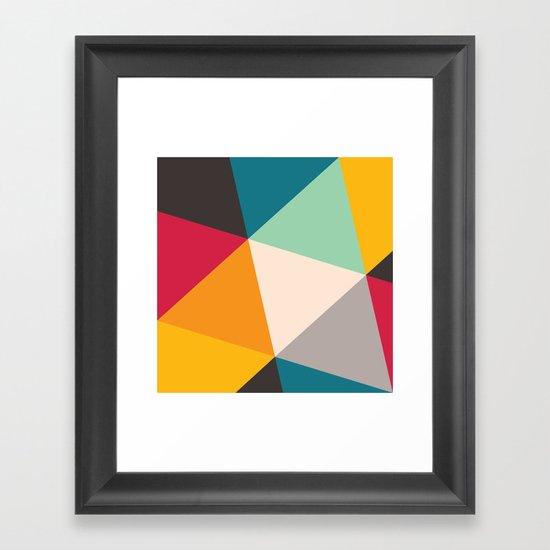 Geometric Triangles Framed Art Print
