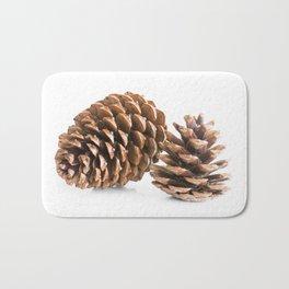Two pine cones Bath Mat