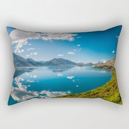 Breathtaking View from a famous scenic Lookout at Lake Wakatipu Rectangular Pillow