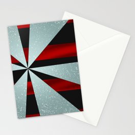 4Shades Glass: Red Black Stationery Cards
