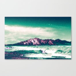 Mountains Rising Above the Salt Flats Canvas Print