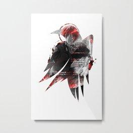 Raven's cloak note Metal Print