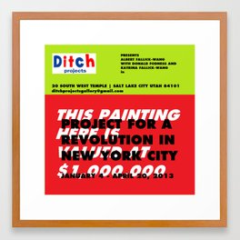 Ditch Projects Artforum Advertisement Framed Art Print