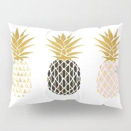 fun pineapple design gold Pillow Sham
