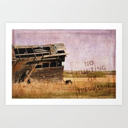 No Trespassing or Hunting Stamped Art Print