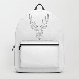 Deer Drawing in One Line Backpack