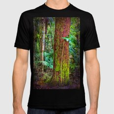 New and old rainforest growth Black Mens Fitted Tee MEDIUM