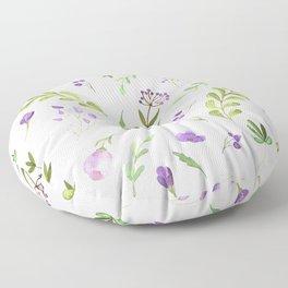 Purple Flower Field Floor Pillow