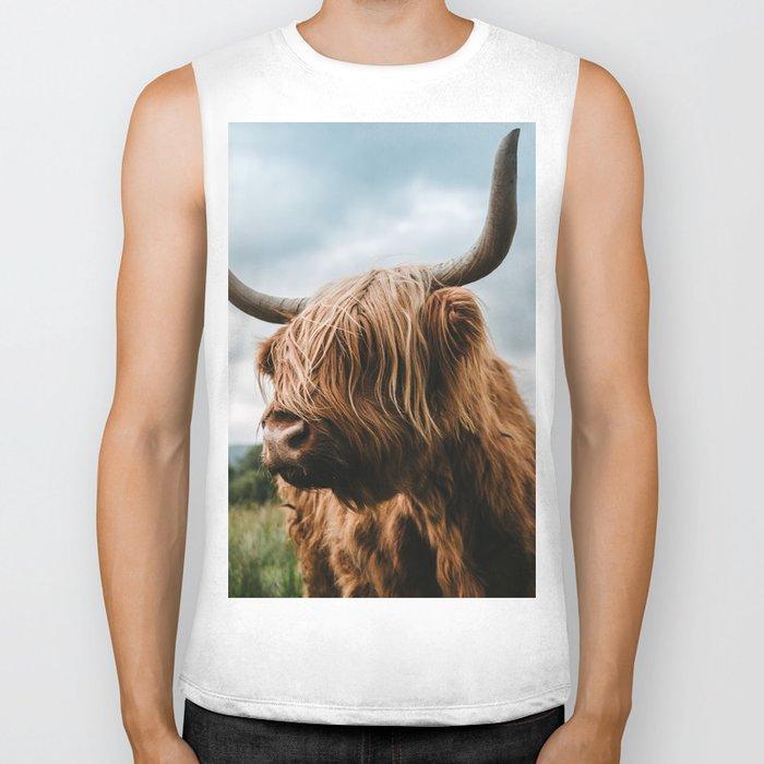 Scottish Highland Cattle - Animal Photography Biker Tank