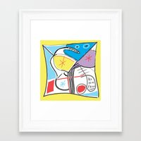 fabric Framed Art Prints featuring Fabric by Matt Vaillette