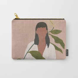 Elegant Lady holding a Flower Carry-All Pouch