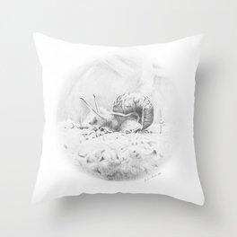Cornelius Struts His Stuff Throw Pillow