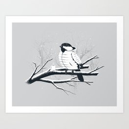North For The Winter (Gray). Art Print