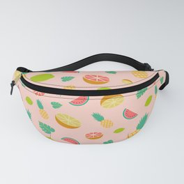 Tropical Fruit Pattern // Pineapple, Watermelon, Lime, Grapefruit Pattern Fanny Pack