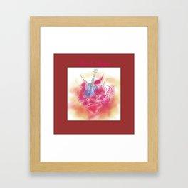 ANALOG zine -Rock Days *rose and guitar* Framed Art Print