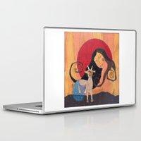 capricorn Laptop & iPad Skins featuring Capricorn by Lea K Arts