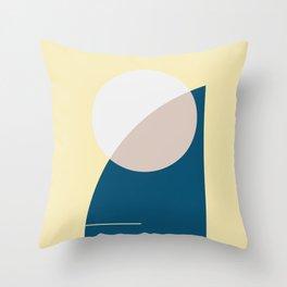 Sun Beach Palms - Soft Pastel  Throw Pillow