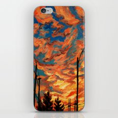 Street Meets Sky  iPhone & iPod Skin