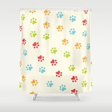 Animal Paw Prints 🐾 Shower Curtain