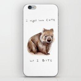 I might look cute, but I bite iPhone Skin
