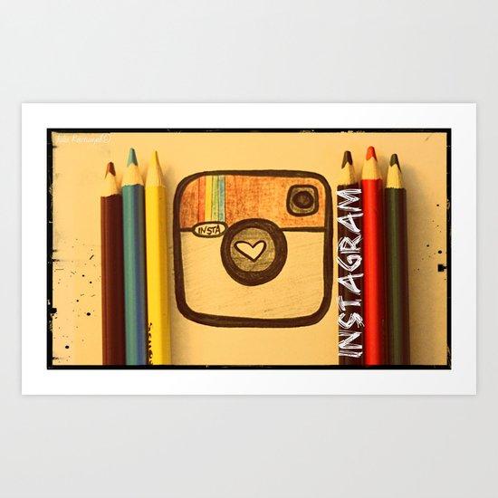 For Instagram Lovers ;) Art Print