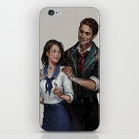 bioshock iPhone & iPod Skins featuring Bioshock Infinite Vigor Poster by Camila Vielmond