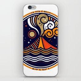 La Vita è Bella – Mediterranean Volcano in Fire Palette iPhone Skin